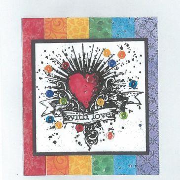 sandra rainbow card