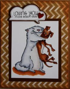 cat and dog hug Sandra published